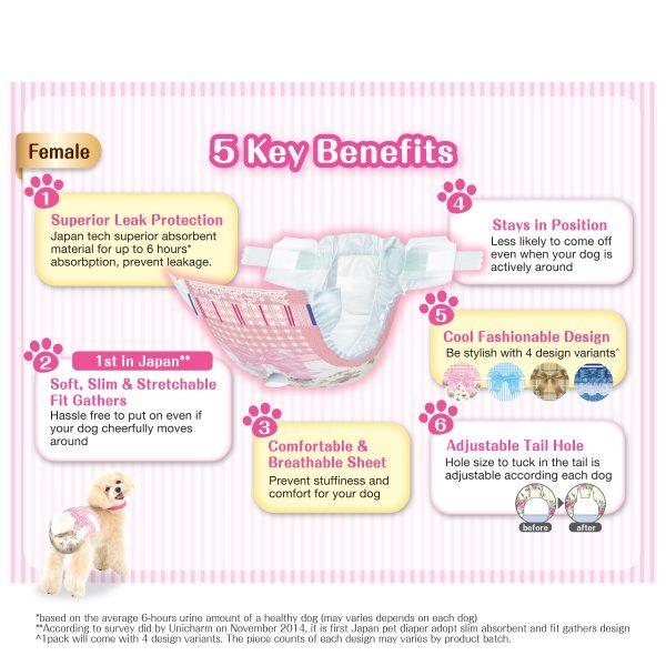 Unicharm Manner Wear Dog Diaper (Female) - Benefits
